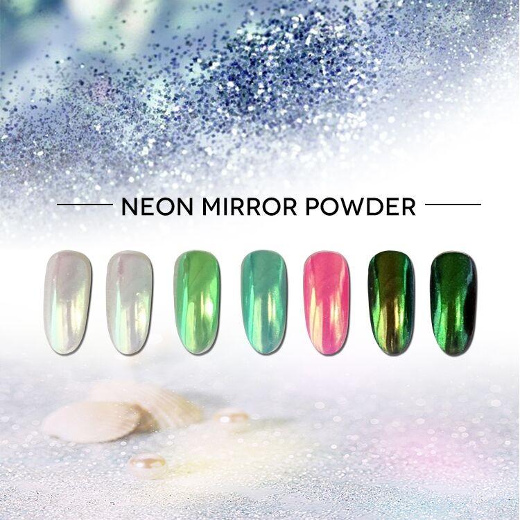 Roniki Hot Selling Organic Holographic Acrylic Chameleon Mirror Nail Neon  Powder For Nail Art Extension - Buy Acrylic Powder Nail Extension,Organic