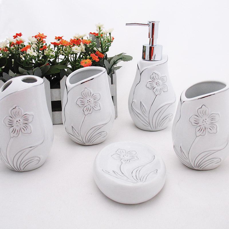 Elegant Bathroom Sets Sale: Ceramic Bathroom Accessories Set Elegant Bathroom Sets