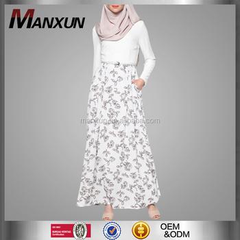 Lange Witte Maxi Jurk.Vrouwen Wit Maxi Jurk Moslim Moderne Abaya Voor Meisjes Strakke Mouw