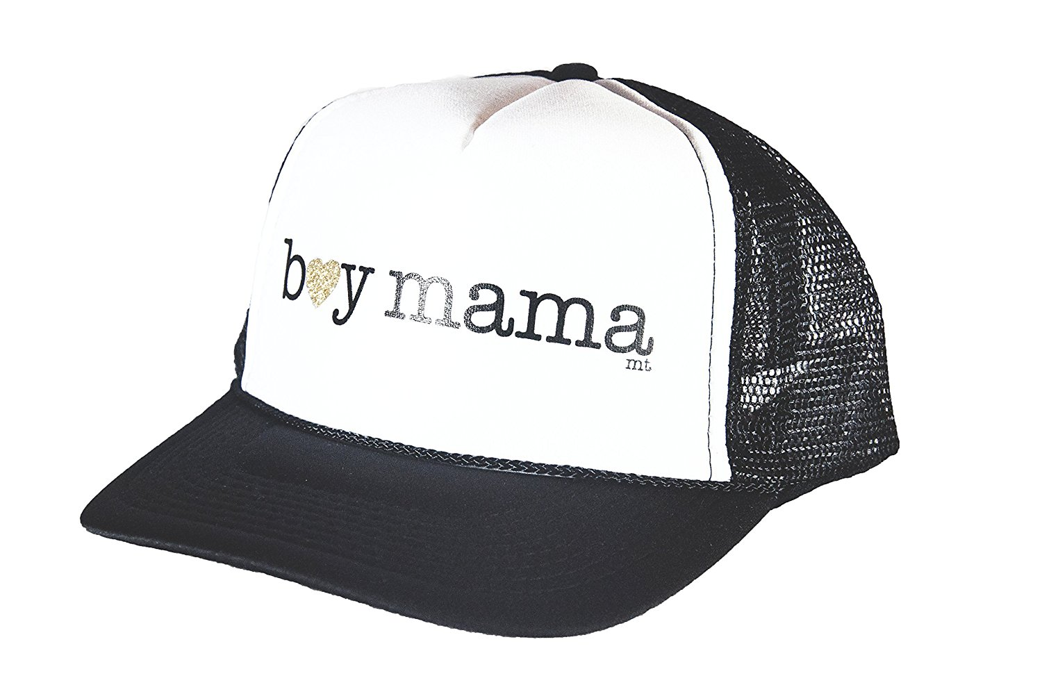 Mother Trucker & co. Boy Mama Women's Trucker Hat In Black/White
