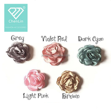 Satin ribbon handmade flower heads- Floral hair accessories spring pastel flowers
