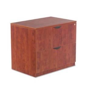 Valencia Series Two-Drawer Lateral File, Medium Cherry, 35w x 22d x 29-1/2h (ALEVA513622MC) (2 Pack)