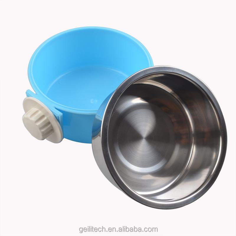 wholesale stainless steel dog food bowl hanging cage dog pet bowl