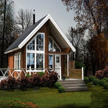 Easy-assembled prefabricated houses era wooden log house