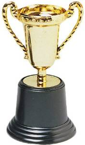 Gold Trophies (60 Pieces) - Gold Trophiesreward Your Winner With This Plastic Gold Trophy. This Gold Trophy Is Great For Spelling Bee'S, School Field Days, Cooking Contest, Talent Show, Sporting Even