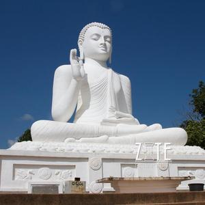 Full Hand Carving Large White Marble buddha statue for sale