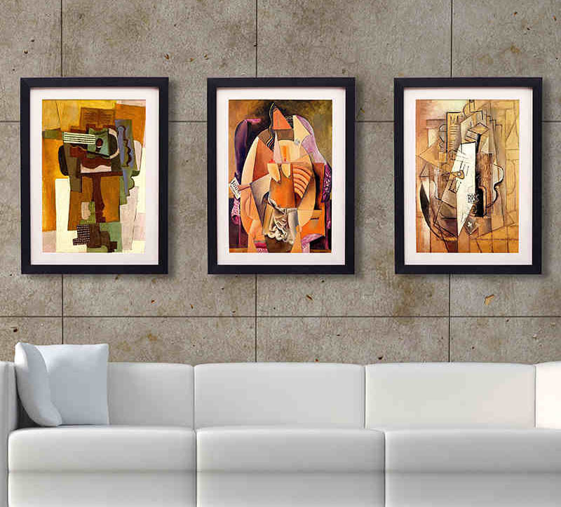 framed wall art for living room vintage posters to decorate modern interiors with view in. Black Bedroom Furniture Sets. Home Design Ideas