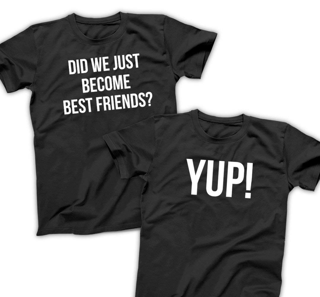 ac150f6a3 Did We Just Become Best Friends YUP - Funny Matching Shirts for Twins  Birthday Set,