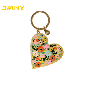 Factory Directly Wholesale Heart Shape No Minimum Custom Logo Metal Hard  Enamel Keychain