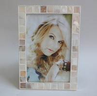 masaic shell metal alloy picture photo frame