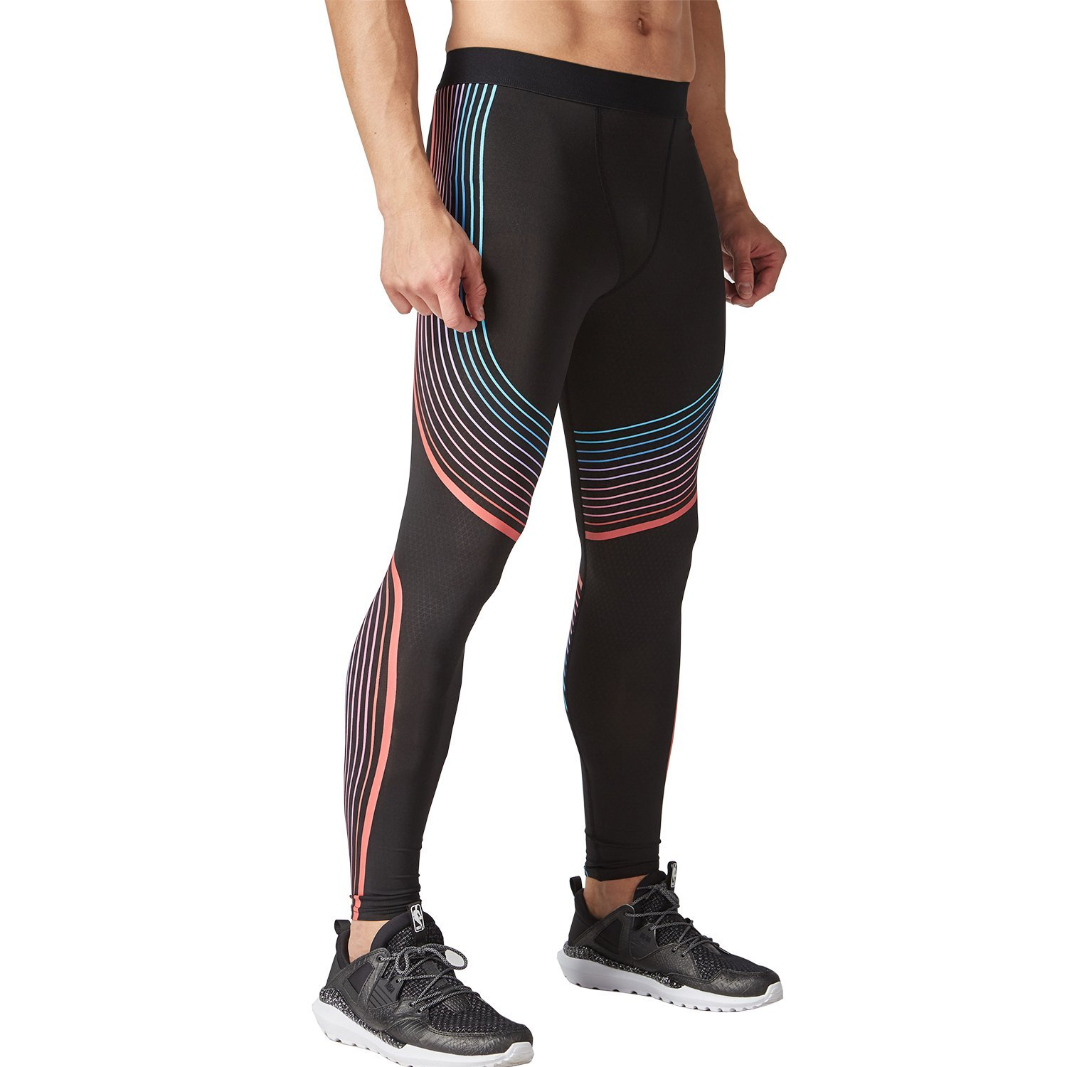 49a00299 Get Quotations · SAILAIBAO Mens Compression pants Suit for Mens's  Bodybuilding Jogging And Gym's Red Streamer printing running pants