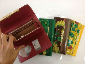 promotional fashionable national PU lady leather wallet india