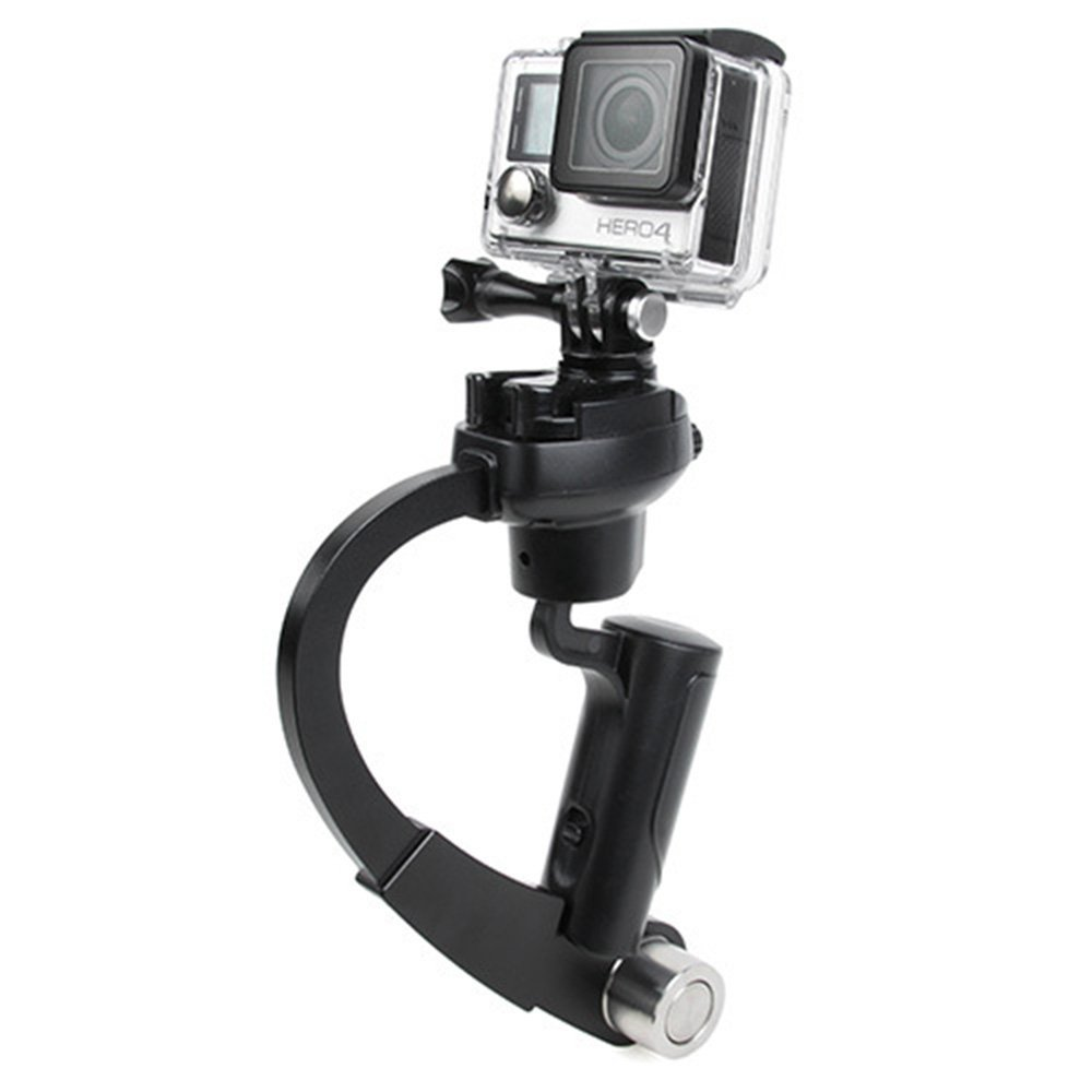 Huayang| Pro Handheld video Camera Stabilizer for GoPro, Perfect for GoPro, Curve Hand Held Stabilizer Support Grip SteadiCam For Camera Gopro 1/2/3/4 Black