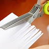 High Quality Stainless steel Multifunctional food vegetable five layers paper shredder scissors