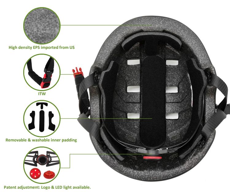 Factory price in-mold custom skateboard helmet 7
