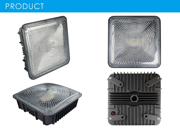 LED Ceiling Recessed Canopy Lights for Gas Station canopy LEd square Lights 50W 75W canopy led
