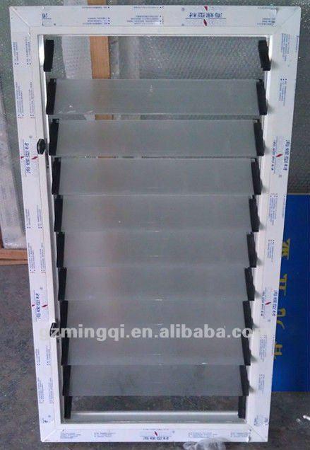 Marco de pvc ventanas con persianas de vidrio esmerilado for Ventanas de aluminio con persianas precios