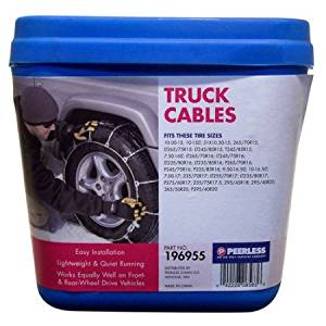 Peerless Winter Track Light Truck Tire Cables, #196955 Lightweight and quiet running And Low profile design allows them to be used on all vehicles