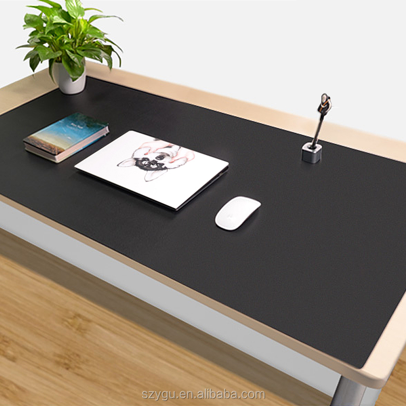 China Suppliers Luxury Large 120*60 cm PU Leather Desk Pad Writing mat Table Mat