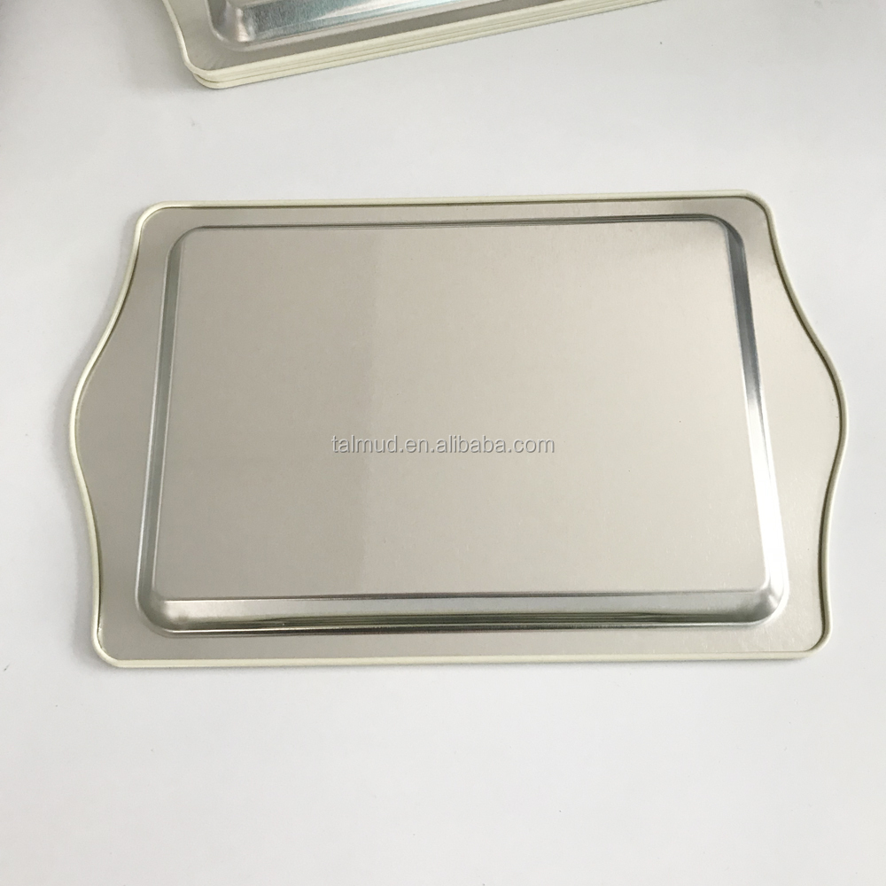 CMYK Printing Souvenir tin tray with handles