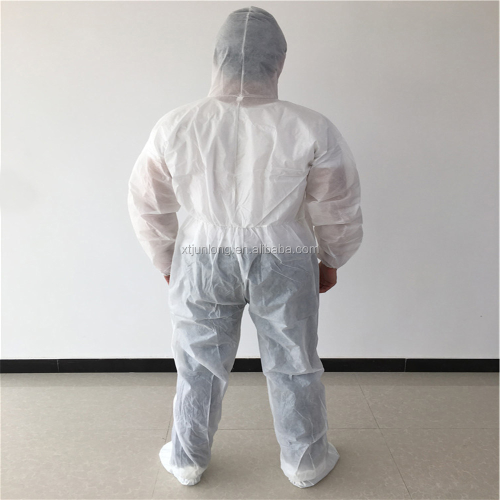 Disposable protective nonwoven medical body suit