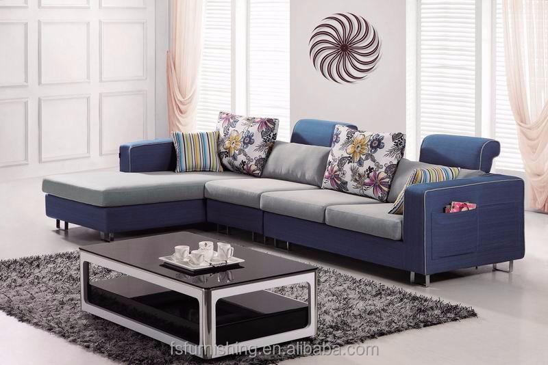 md606 moderne simple luxe bleu velours tissu salon en coupe meubles de maison en forme de - Salons Moderne En Velours
