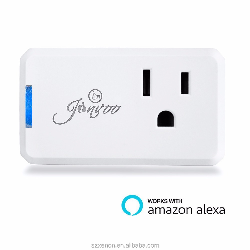 Jinvoo Wi-Fi Smart Plug Wireless Mini Outlet with Schedule,Remote Control your Devices,Occupies Only One Socket,Works with Alexa