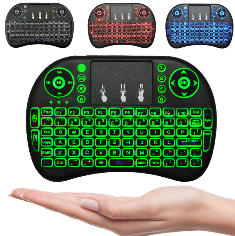 Airmouse rii mini i8 wireless 2.4G keyboard led mini keyboard