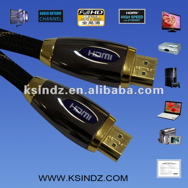 Luxurious HDMI 1080p cable 1.4 version,3DTV cable