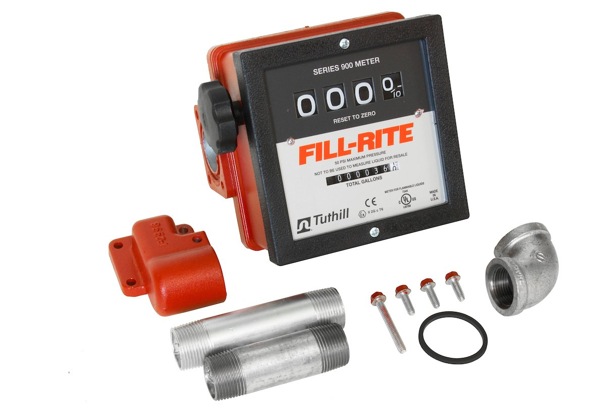 Fill-Rite 901CMK4200 Mechanical Meter for 4200 Series Pumps - 4-Wheel Register, 6 - 40 GPM