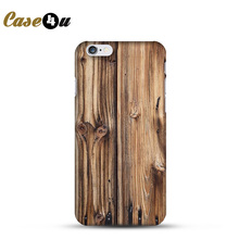 For iPhone 4s 5s 6s 6plus Phone Back Case Wood Design Plastic Hard Protector