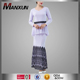 Wholesale Muslim Women Clothing Fashion Baju Kurung Moden With Lace Islamic Skirt Suit