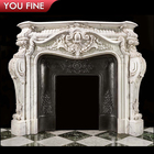 Louis Carved Marble Fireplace Surround