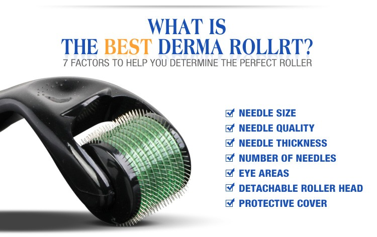 Hot sale 540 Stainless Steel Micro Needle Therapy Derma Roller Acne Scar Freckle Derma Roller Skin Care Derma Roller 540 Needle