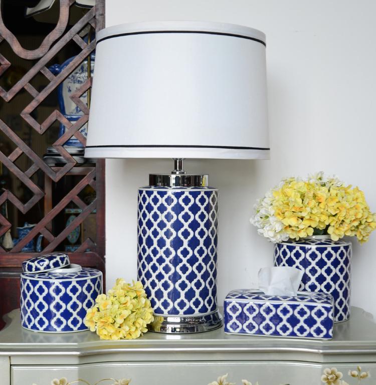 2019 장식 세라믹 blue 및 흰 도자기 ginger jar