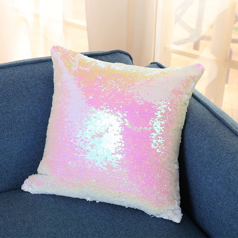 Wholesale Custom Printed Letter Spangle Cushion Covers Sequins Mermaid  Pillow Cases With Magic Mermaid Sequin, View Spangle Cushion Covers,  Spangle