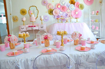 New Princess Tea Party Planning Ideas Supplies Idea Cake Decorations Tulle  Tutu Table Skirt Wedding,Birthday,Baby Shower - Buy Princess Tea Party