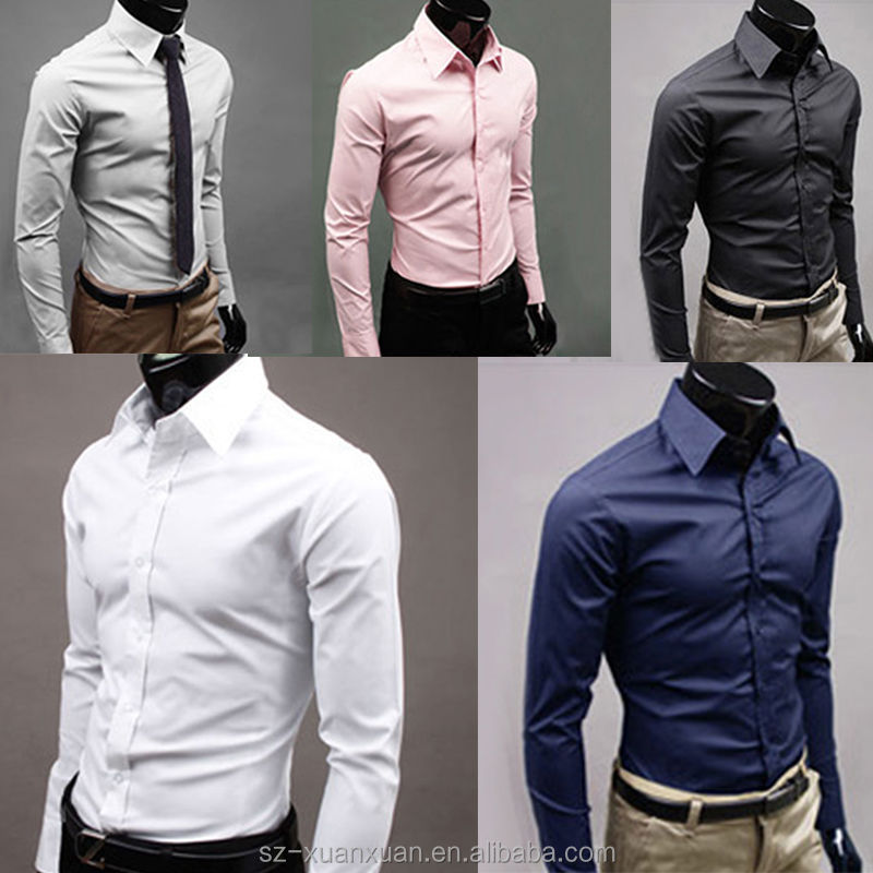 SZXX Latest Casual Formal Shirt Pattern For Men Slim Fit Shirt