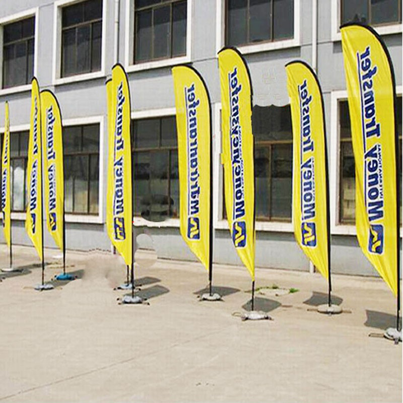 Advertsing beach flag banner stand
