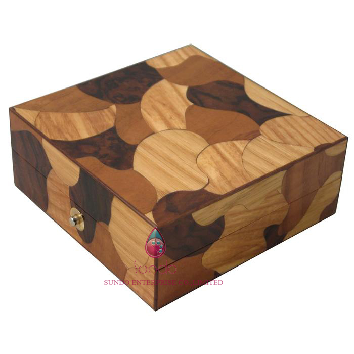 china manufactory custom cufflink gift box wood