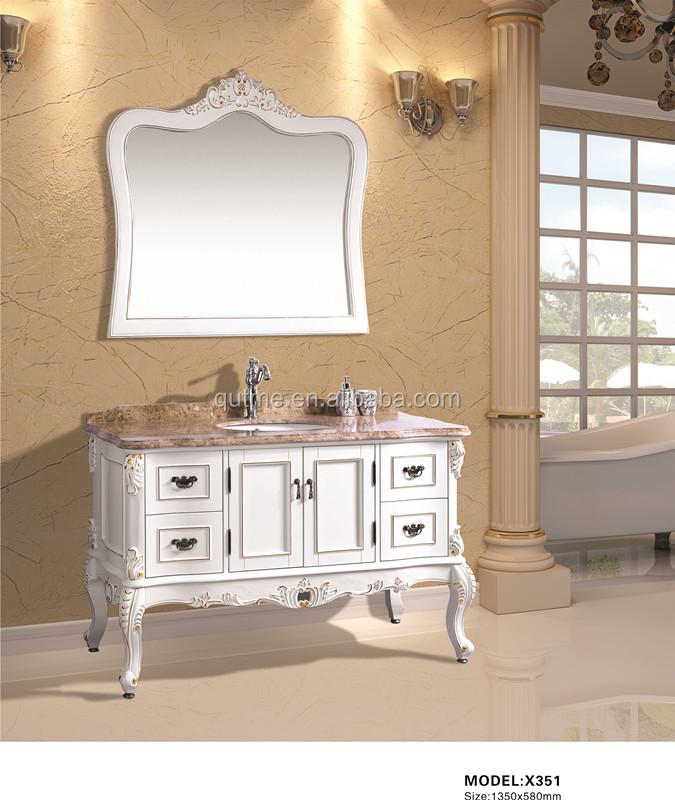 Autme moderna trucco tavolo vanit mobiletto del bagno con - Mobiletto con specchio ...