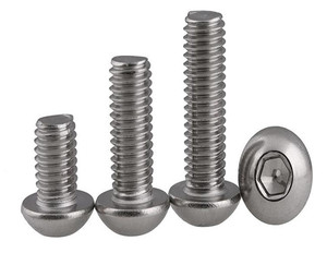 A2-70 Hex Button Head Screw Bolt SUS304 Stainless Steel M3*(4/5/6/8/10/12/14/16/18/20/22/25/30/35/40/45/50) mm