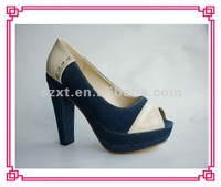 Fashion brand canvas jeans high heel shoes