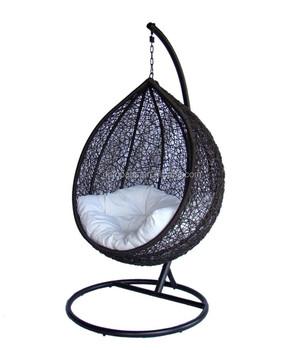 Gentil LexMod Cocoon Wicker Rattan Outdoor Wicker Patio Swing Chair, Suspension  Series