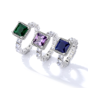 BC087 stunning white gold eternity designs amethyst ring for engagement