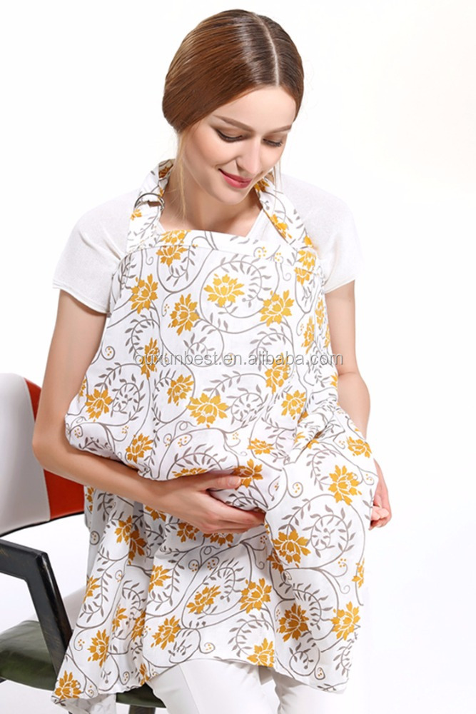 2017 New Arrival Women Breast Feeding Apron Baby Nursing Cover 100% Cotton