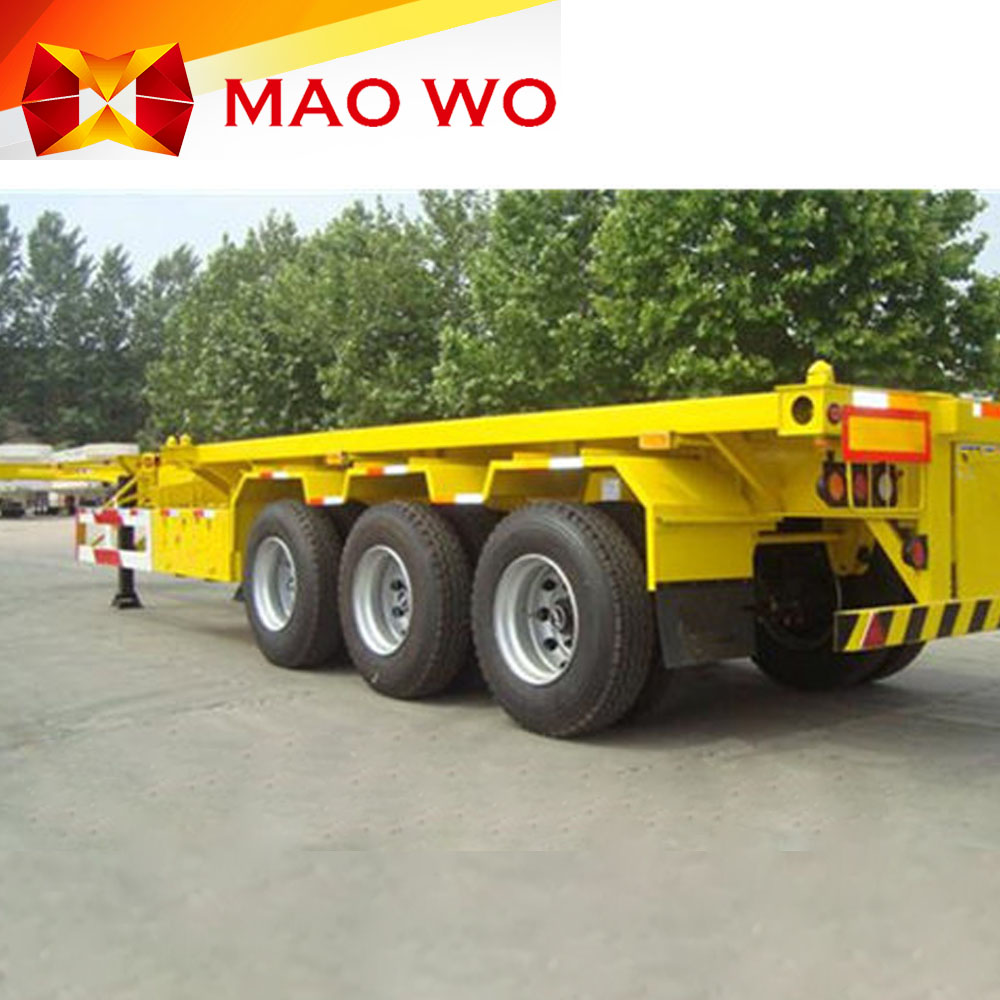 Manufacture new skeleton semi trailer container chassis for sale