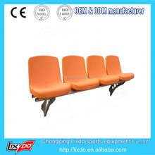 Best blow moulded fixed stadium seat 4 seat in a row