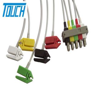 3 5mm 3 pole ecg leadwire audio plug 4 pole ekg cable aha iec banana pinch