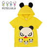 100% Cotton Single Jersey Cute Panda 2-10 Years Kids Hooded T-shirt Tops
